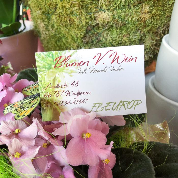 Blumen V. Wein in Wadgassen