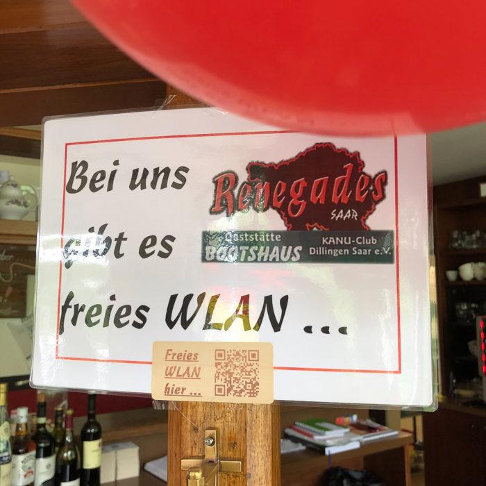 freies WLAN im Bootshaus Renegades Saar in Dillingen